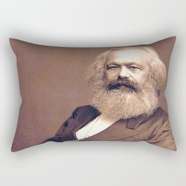 Portrait of Karl Marx by John Jabez Edwin Mayal Rectangular Pillow