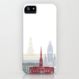 Harvard skyline poster iPhone Case
