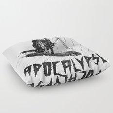 Surf Now, Apocalypse Later Floor Pillow