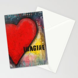 Heart Art Stationery Cards