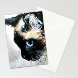 Siamese Cat Acrylic Painting Stationery Cards