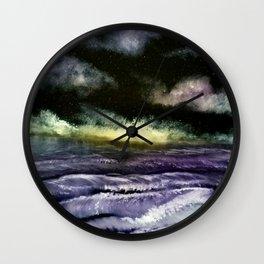 Lavender Waves Wall Clock