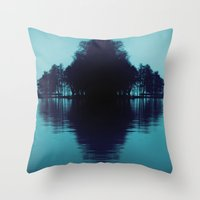 finland Throw Pillows featuring Finland Mysteries by Onaaa