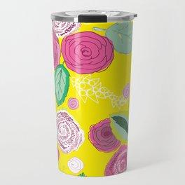 Belles Fleurs - roses bright pattern Travel Mug