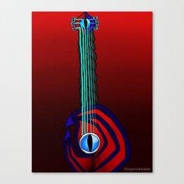 Keyblade Guitar #62 - Soul Eater Canvas Print