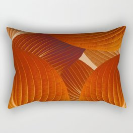 Leaves in Terracotta Color #decor #society6 #buyart Rectangular Pillow