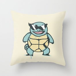 Ash's Squirtle (Squirtle Squad Leader) Throw Pillow