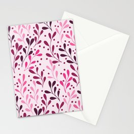 pink,magenta and lili abstract seaweed plants seamless pattern Stationery Cards