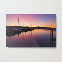 Sunset Over Airlie Metal Print