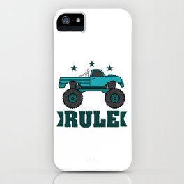 """Monster Trucks Rule"" luxurious and glorious inspired tee design for rider like you! iPhone Case"