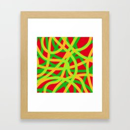 lively lines Framed Art Print