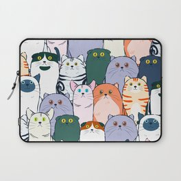 Group of Colorful Breed of Cats Cute Clowder Design Laptop Sleeve