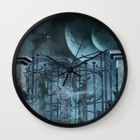 gothic Wall Clocks featuring Gothic by nicky2342