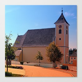 The village church of Sankt Stefan III   architectural photography Canvas Print