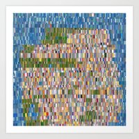 san francisco map Art Prints featuring San Francisco Map Collagescape by Tofu
