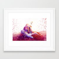utena Framed Art Prints featuring The Rose Bride by Yoccu