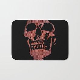Red Optical Skull Bath Mat