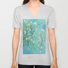 Vincent Van Gogh Almond Blossoms Unisex V-Neck