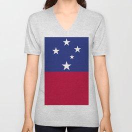 Samoa flag emblem Unisex V-Neck