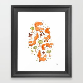 Little Foxes Framed Art Print