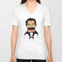 punisher V-neck T-shirts featuring Screaming Punisher by That Design Bastard