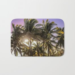 PURPLE AND GOLD SKIES Bath Mat