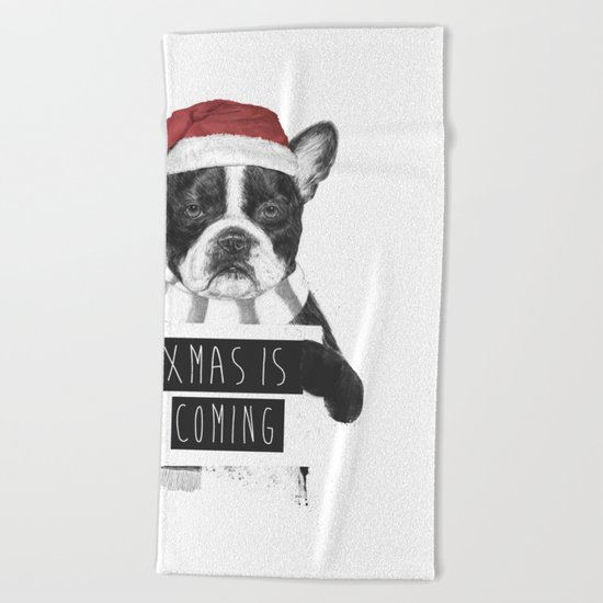 Xmas is coming Beach Towel