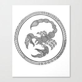 Zodiac Sign Scorpio Canvas Print