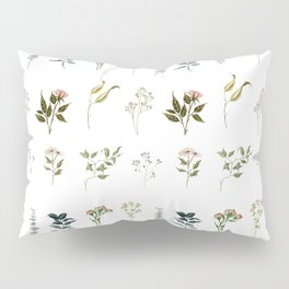 Delicate Floral Pieces Pillow Sham