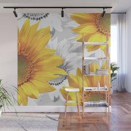 Sunflower Bouquet #decor #society6 #buyart Wall Mural