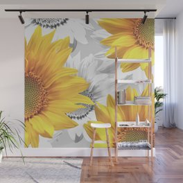 Sunflower Bouquet #decor #society6 #buyart Wall Mural