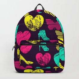High Heels Grunge hearts and butterflies Backpack