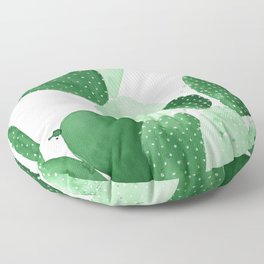 Green Paddle Cactus II Floor Pillow