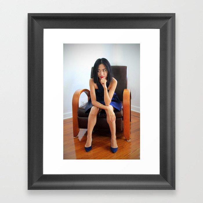 Wry Smile Framed Art Print