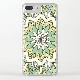 Tropical Mandala #3 Clear iPhone Case
