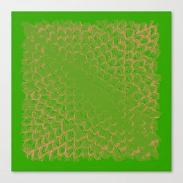 Green abstract digital background Canvas Print