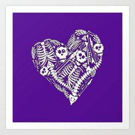 Skeletal Love (Purple) Art Print