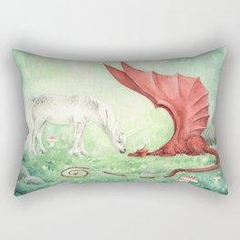 Unicorn and Dragon Rectangular Pillow