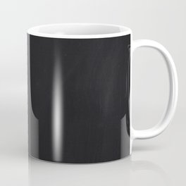 Mid Century Modern Minimalist Abstract Art Brush Strokes Black & White Ink Art Colorfield Coffee Mug