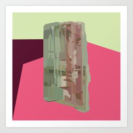 Tourmaline Gem Art Print
