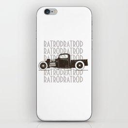 Rat Rod Hot Rod Vintage iPhone Skin