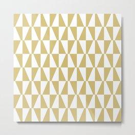 Mid Century Modern Geometric 315 Gold Metal Print