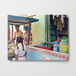India Streets. Market  Metal Print