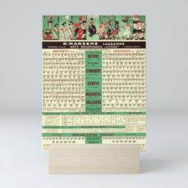 affiches horaires cff et cgn r marsens lausanne service du 2 octobre 1955 au 2 juin 1956 cff sbb Mini Art Print