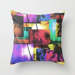 Tree Patterns with Sunset Throw Pillow