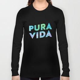 Pura Vida Watercolor Typography Long Sleeve T-shirt