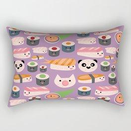 Kawaii sushi purple Rectangular Pillow