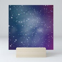 Zodiac Signs Constellations Gradient Shine Mini Art Print