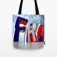 france Tote Bags featuring France by Carlo Toffolo