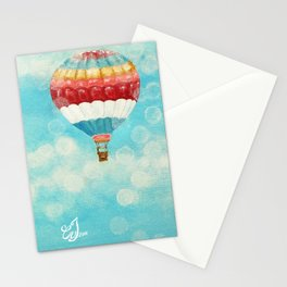 Hot Air Balloons 1 Stationery Cards